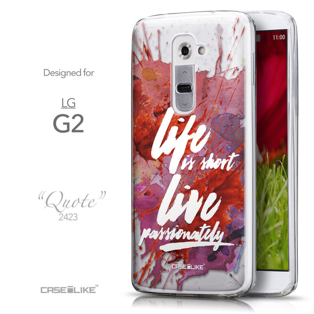 Front & Side View - CASEiLIKE LG G2 back cover Quote 2423