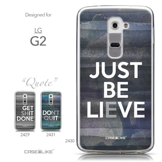 Collection - CASEiLIKE LG G2 back cover Quote 2430