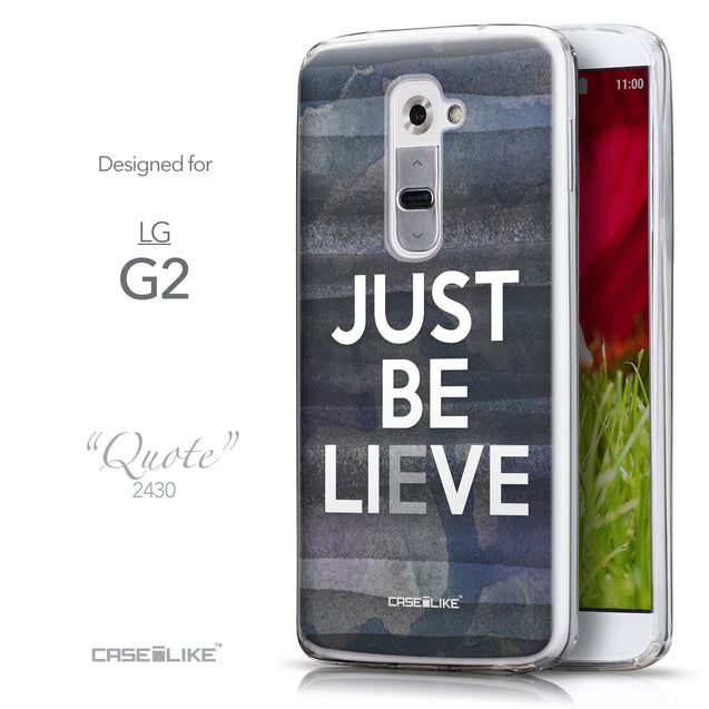 Front & Side View - CASEiLIKE LG G2 back cover Quote 2430