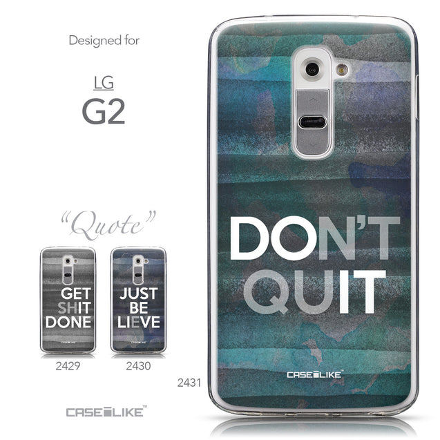Collection - CASEiLIKE LG G2 back cover Quote 2431