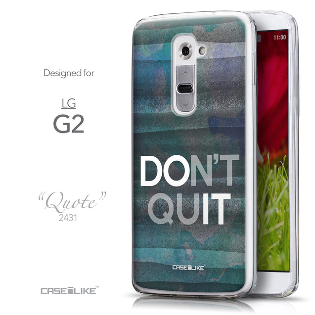 Front & Side View - CASEiLIKE LG G2 back cover Quote 2431