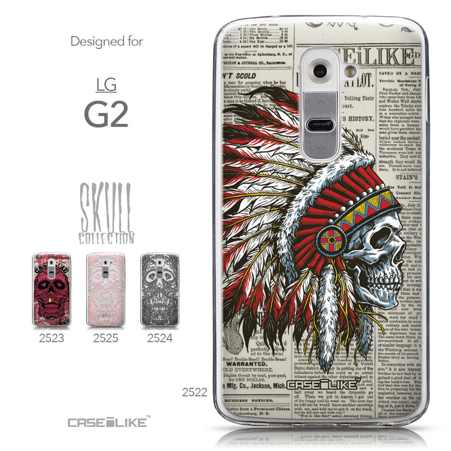 Collection - CASEiLIKE LG G2 back cover Art of Skull 2522