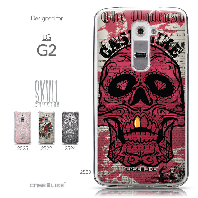 Collection - CASEiLIKE LG G2 back cover Art of Skull 2523