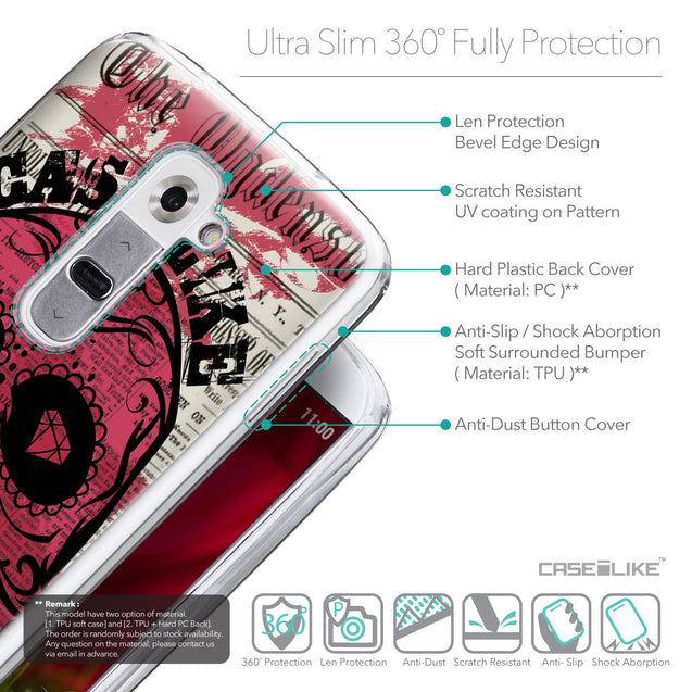 Details in English - CASEiLIKE LG G2 back cover Art of Skull 2523
