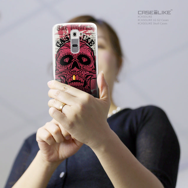 Share - CASEiLIKE LG G2 back cover Art of Skull 2523