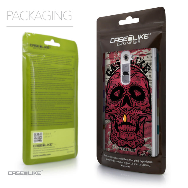 Packaging - CASEiLIKE LG G2 back cover Art of Skull 2523