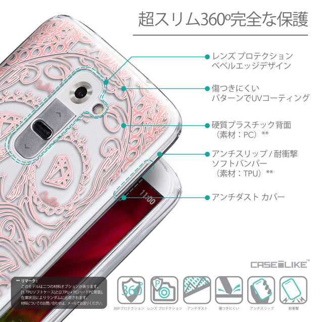 Details in Japanese - CASEiLIKE LG G2 back cover Art of Skull 2525