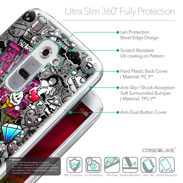 Details in English - CASEiLIKE LG G2 back cover Graffiti 2704
