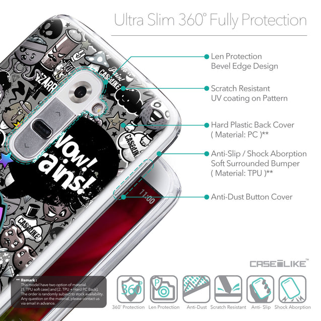 Details in English - CASEiLIKE LG G2 back cover Graffiti 2707