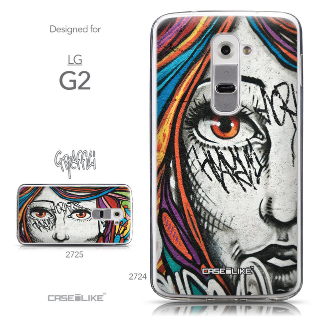 Collection - CASEiLIKE LG G2 back cover Graffiti Girl 2724