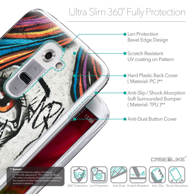 Details in English - CASEiLIKE LG G2 back cover Graffiti Girl 2724