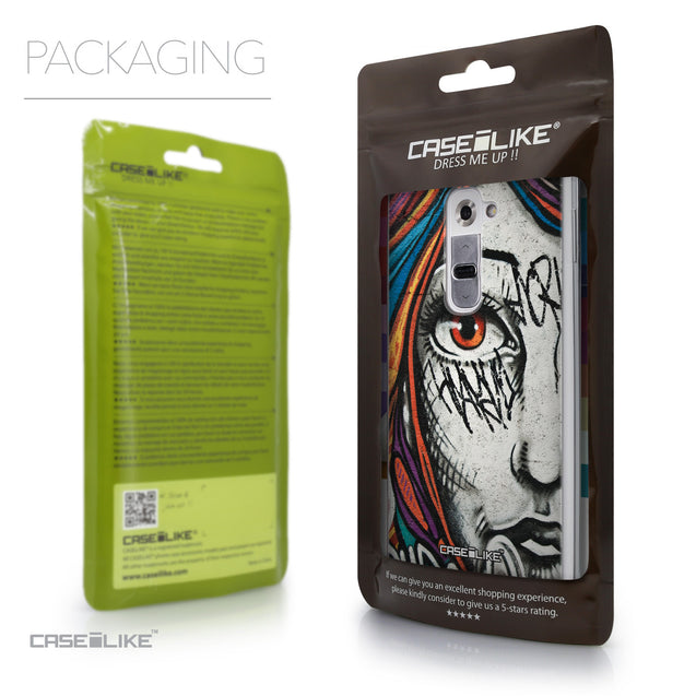 Packaging - CASEiLIKE LG G2 back cover Graffiti Girl 2724