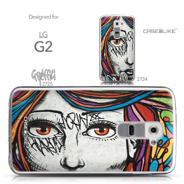Collection - CASEiLIKE LG G2 back cover Graffiti Girl 2725