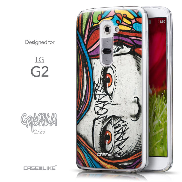 Front & Side View - CASEiLIKE LG G2 back cover Graffiti Girl 2725