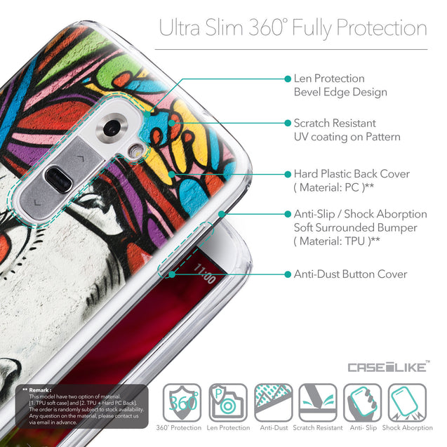 Details in English - CASEiLIKE LG G2 back cover Graffiti Girl 2725