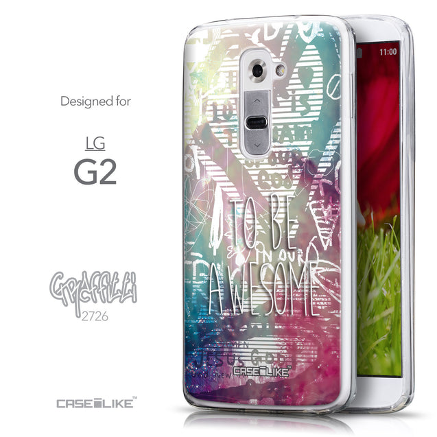 Front & Side View - CASEiLIKE LG G2 back cover Graffiti 2726