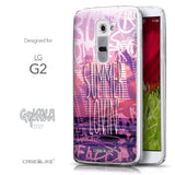 Front & Side View - CASEiLIKE LG G2 back cover Graffiti 2727