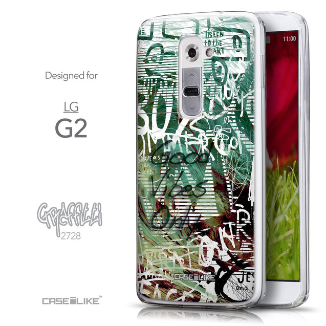 Front & Side View - CASEiLIKE LG G2 back cover Graffiti 2728
