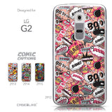 Collection - CASEiLIKE LG G2 back cover Comic Captions Pink 2912