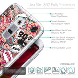Details in English - CASEiLIKE LG G2 back cover Comic Captions Pink 2912