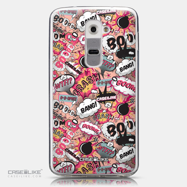 CASEiLIKE LG G2 back cover Comic Captions Pink 2912