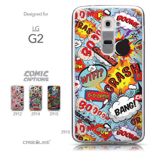 Collection - CASEiLIKE LG G2 back cover Comic Captions Blue 2913
