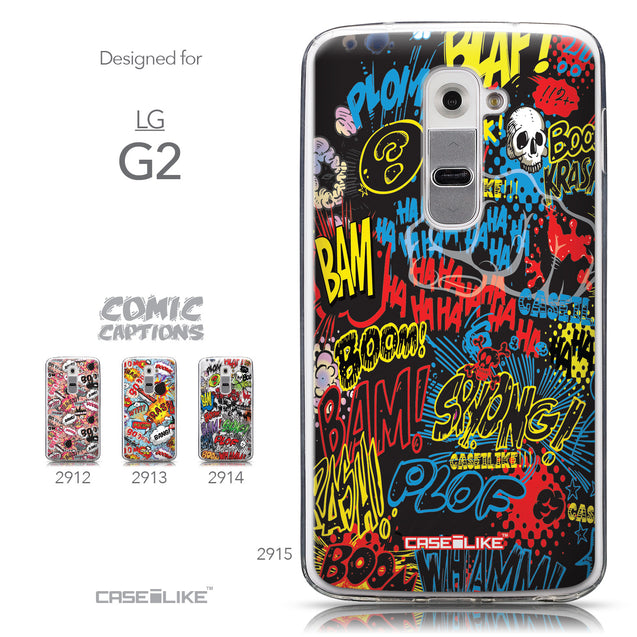 Collection - CASEiLIKE LG G2 back cover Comic Captions Black 2915
