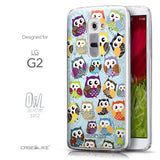 Front & Side View - CASEiLIKE LG G2 back cover Owl Graphic Design 3312