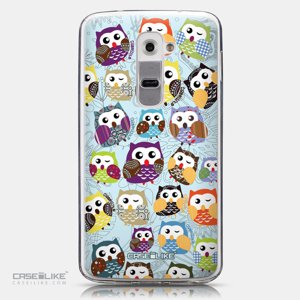 CASEiLIKE LG G2 back cover Owl Graphic Design 3312