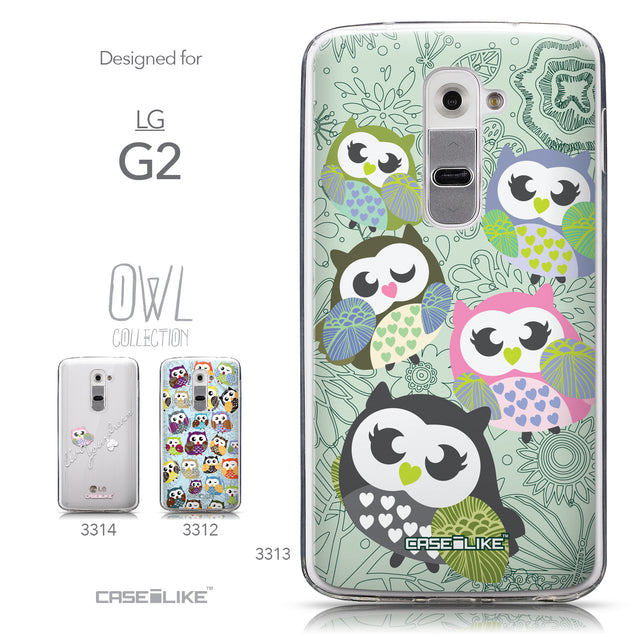 Collection - CASEiLIKE LG G2 back cover Owl Graphic Design 3313