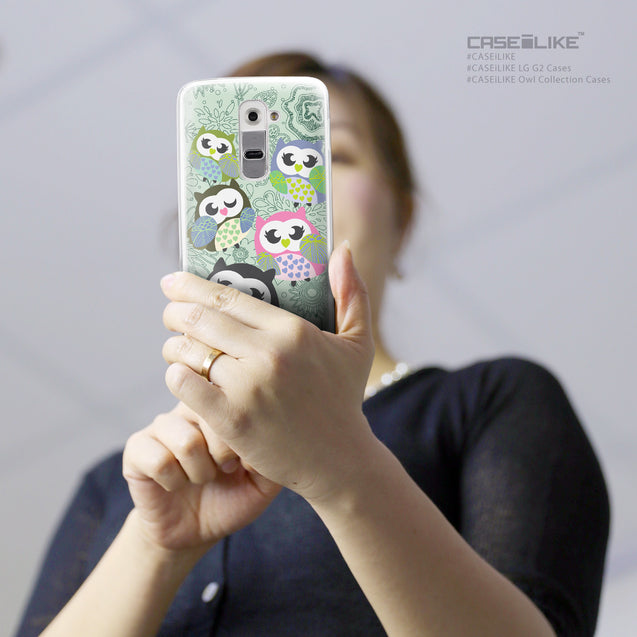Share - CASEiLIKE LG G2 back cover Owl Graphic Design 3313