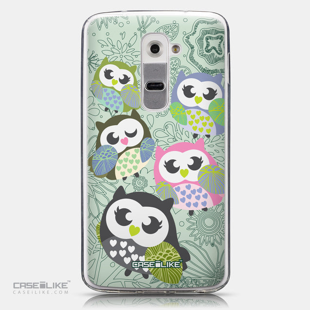 CASEiLIKE LG G2 back cover Owl Graphic Design 3313