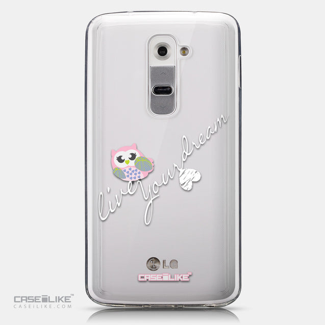 CASEiLIKE LG G2 back cover Owl Graphic Design 3314