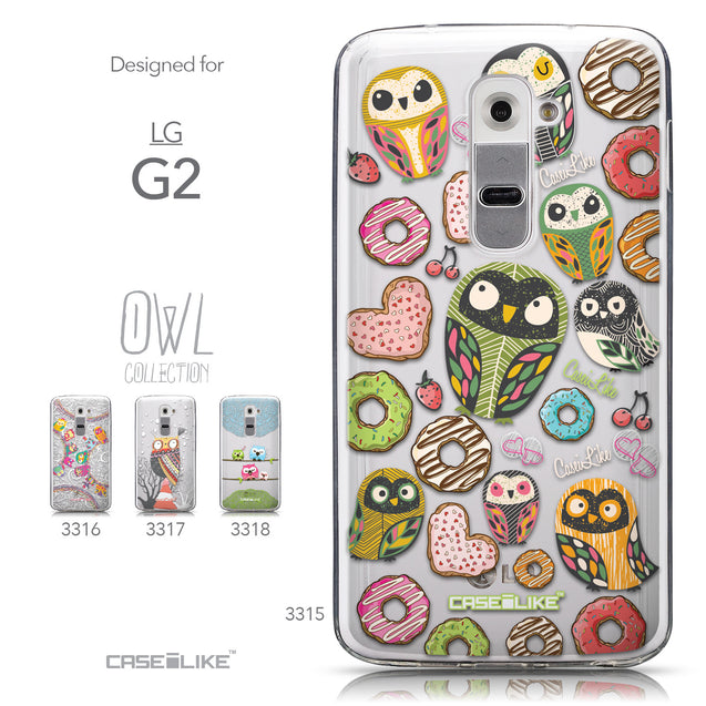 Collection - CASEiLIKE LG G2 back cover Owl Graphic Design 3315