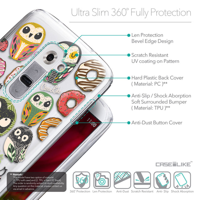 Details in English - CASEiLIKE LG G2 back cover Owl Graphic Design 3315