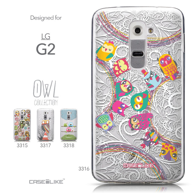 Collection - CASEiLIKE LG G2 back cover Owl Graphic Design 3316