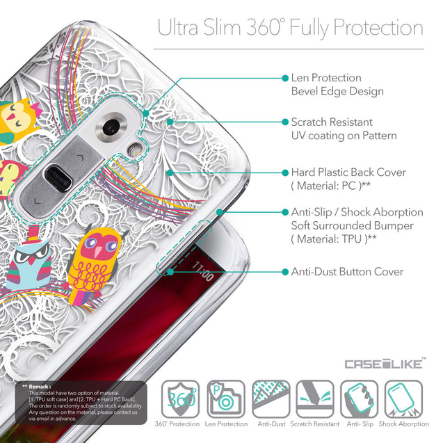 Details in English - CASEiLIKE LG G2 back cover Owl Graphic Design 3316