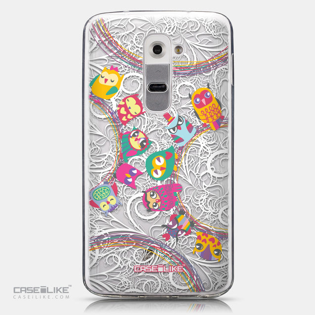 CASEiLIKE LG G2 back cover Owl Graphic Design 3316