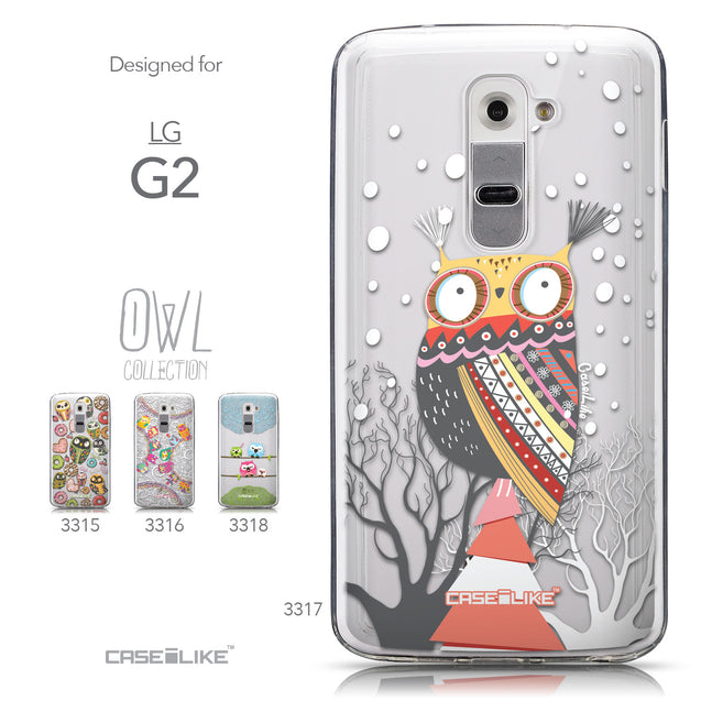 Collection - CASEiLIKE LG G2 back cover Owl Graphic Design 3317