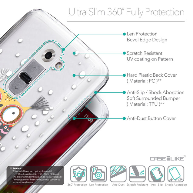 Details in English - CASEiLIKE LG G2 back cover Owl Graphic Design 3317