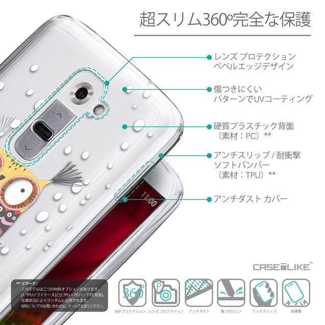 Details in Japanese - CASEiLIKE LG G2 back cover Owl Graphic Design 3317