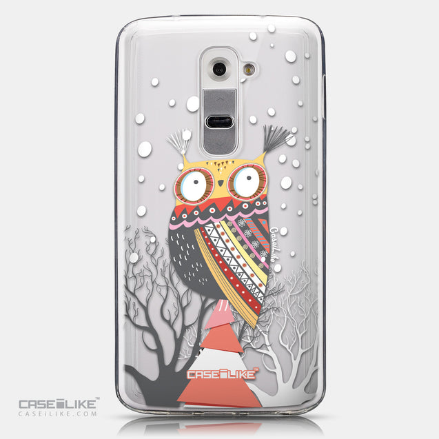 CASEiLIKE LG G2 back cover Owl Graphic Design 3317