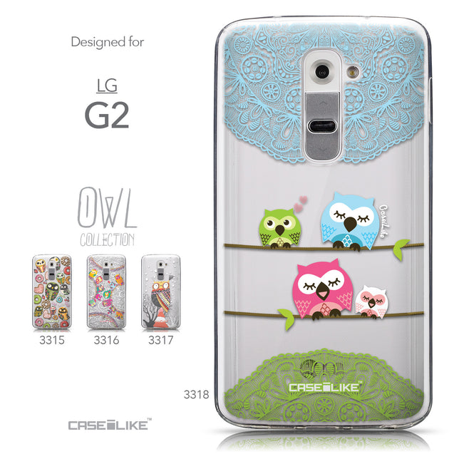 Collection - CASEiLIKE LG G2 back cover Owl Graphic Design 3318