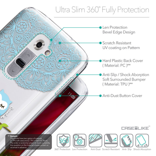 Details in English - CASEiLIKE LG G2 back cover Owl Graphic Design 3318