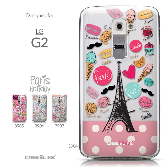 Collection - CASEiLIKE LG G2 back cover Paris Holiday 3904