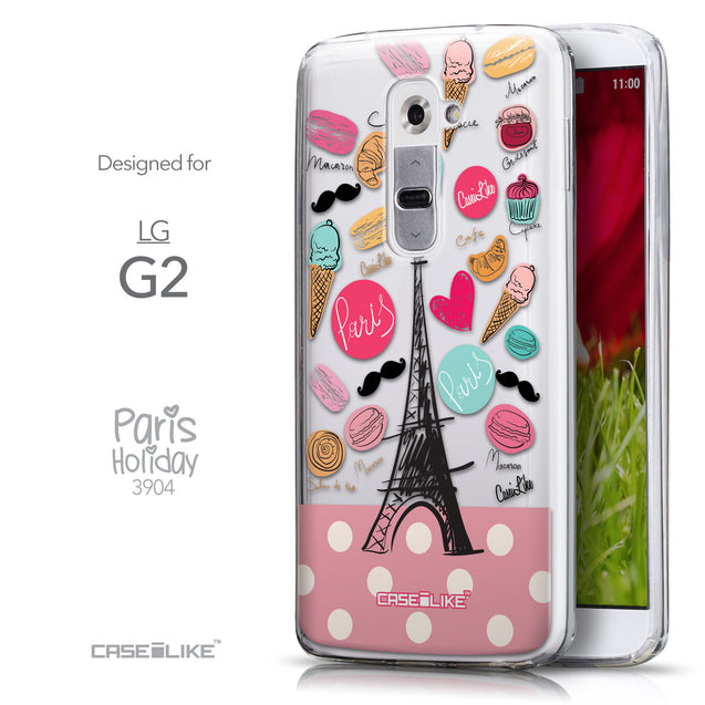Front & Side View - CASEiLIKE LG G2 back cover Paris Holiday 3904