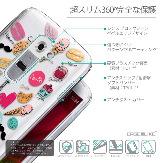Details in Japanese - CASEiLIKE LG G2 back cover Paris Holiday 3904