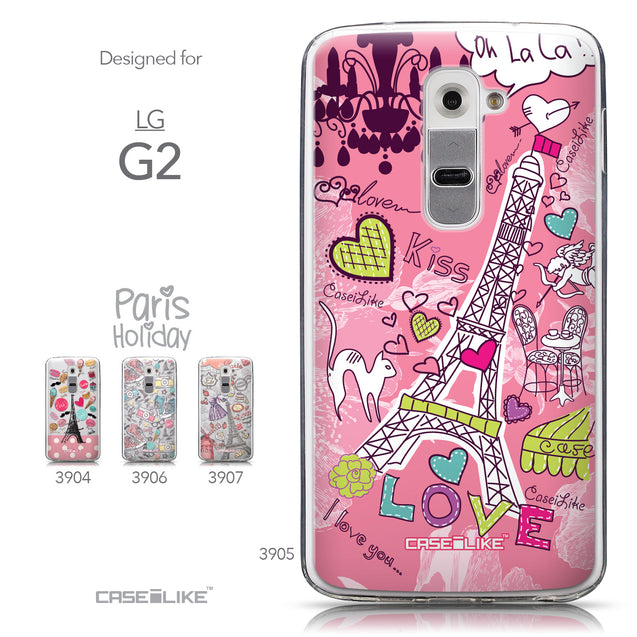 Collection - CASEiLIKE LG G2 back cover Paris Holiday 3905