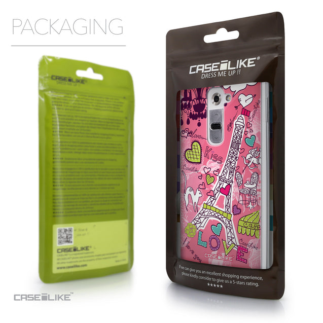 Packaging - CASEiLIKE LG G2 back cover Paris Holiday 3905