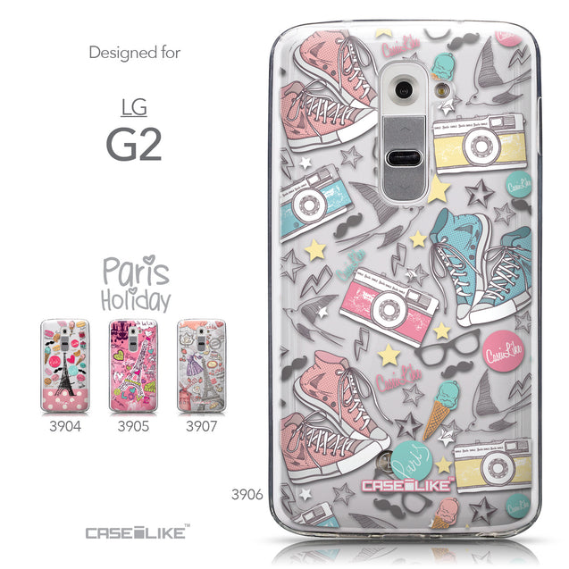 Collection - CASEiLIKE LG G2 back cover Paris Holiday 3906